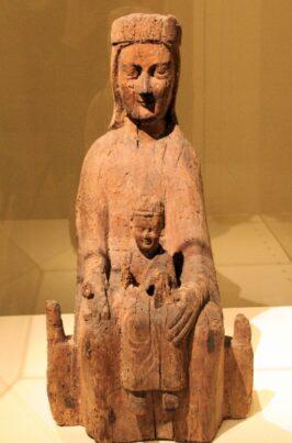 Galerie-Gabrielle-Laroche_107_IMPORTANTE VIERGE EN MAJESTÉ_Vierge en Majesté provenant de Nolay